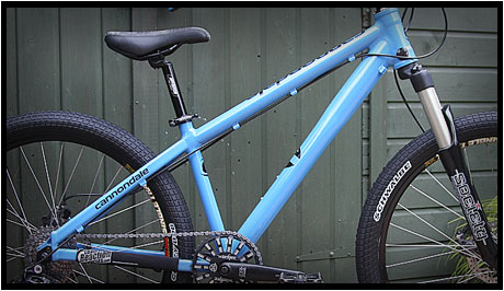mountain bike frame powdercoated